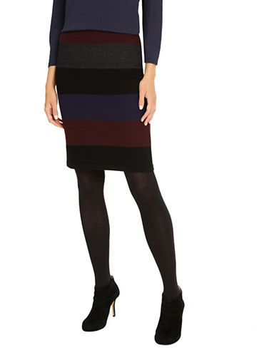 Phase Eight Cecelia Wide Stripe Knit Skirt-MULTI-UK 18/US 14