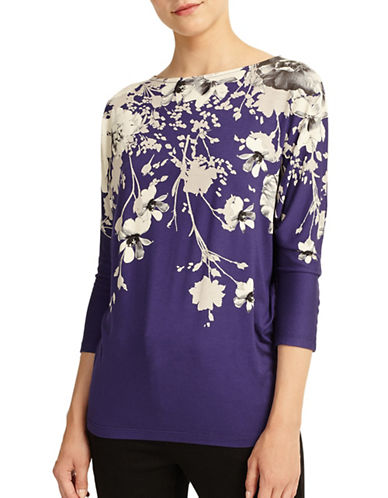 Phase Eight Alexandria Print Top-NAVY MULTI-UK 10/US 6