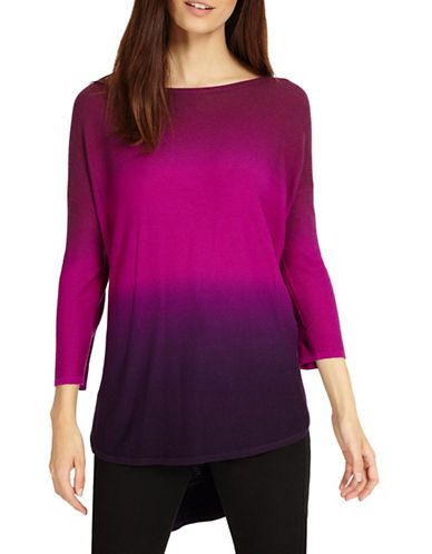 Phase Eight Lynda Dip Dye Knit Top-MAGENTA-2