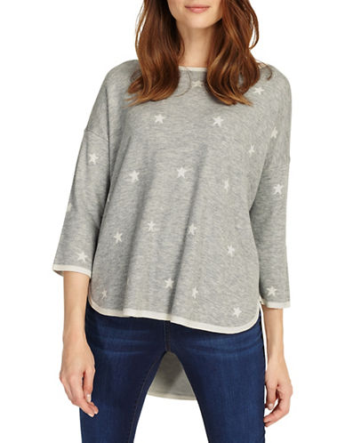 Phase Eight Megg Star Jacquard Knit Top-GREY-2