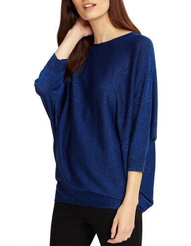 Phase Eight Becca Shimmer Sweater-BLUE-3