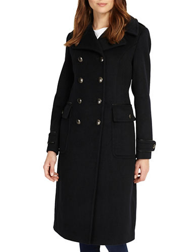 Phase Eight Kamryn Double-Breasted Wool-Blend Coat-BLUE-UK 10/US 6