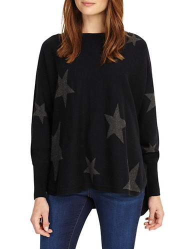 Phase Eight Suzette Star Jacquard Sweater-BLUE-2