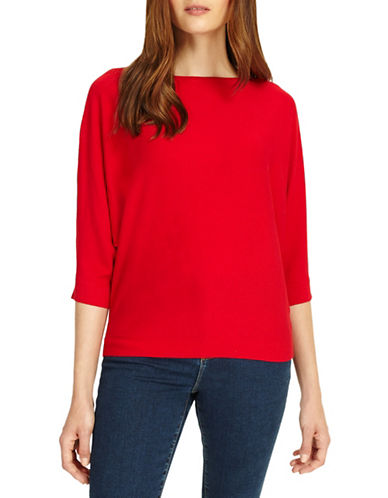 Phase Eight Cristine Batwing Knit Top-RED-2