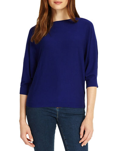 Phase Eight Cristine Batwing Knit Top-BLUE-3