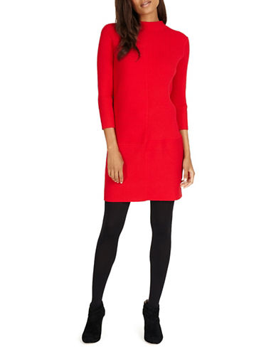Phase Eight Francesca Ribbed Sweater Dress-RED-UK 18/US 14