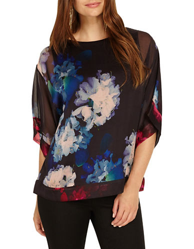 Phase Eight Davinia Orchid Silk Blouse-MULTI-2