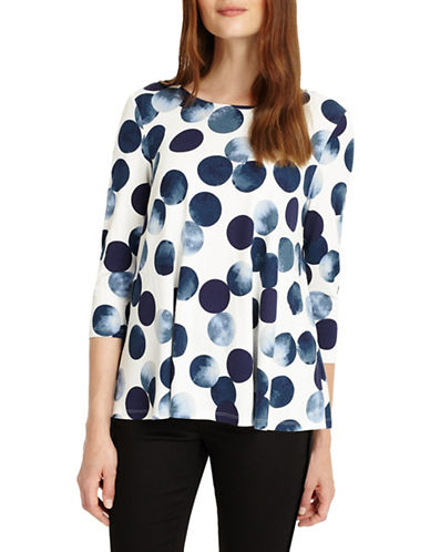 Phase Eight Saffi Spot Top-BLUE-UK 8/US 4