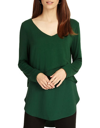 Phase Eight Sabrina Long-Sleeve Top-GREEN-UK 14/US 10