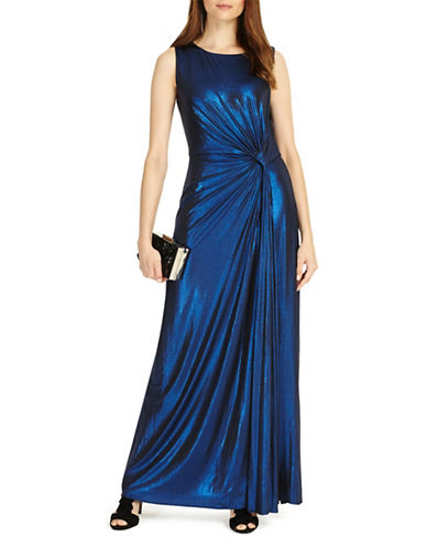 Phase Eight Caro Floor-Length Dress-BLUE-UK 16/US 12