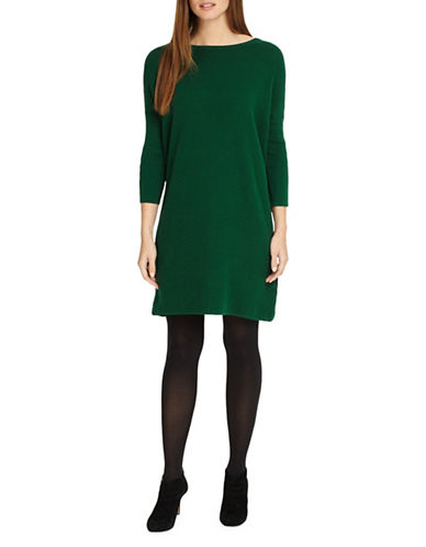 Phase Eight Tiberia Ripple Stitch Cotton Tunic-GREEN-2