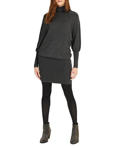 Phase Eight Rina Turtleneck Dress-GREY-UK 8/US 4