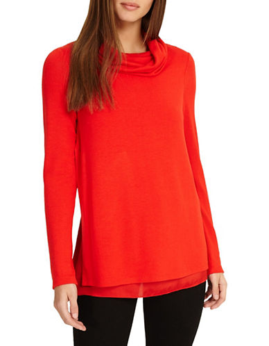 Phase Eight Winnifred Satin Top-RED-UK 16/US 12
