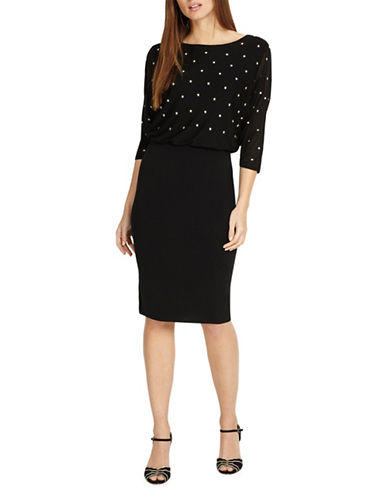 Phase Eight Adele Star Embroidered Dress-BLACK-UK 8/US 4