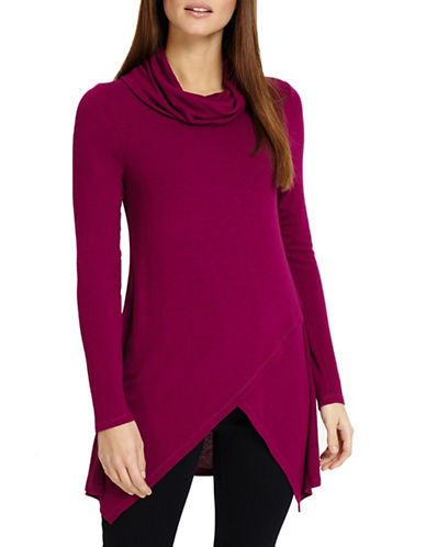 Phase Eight Tara Cowl Neck Top-MAGENTA-UK 16/US 12