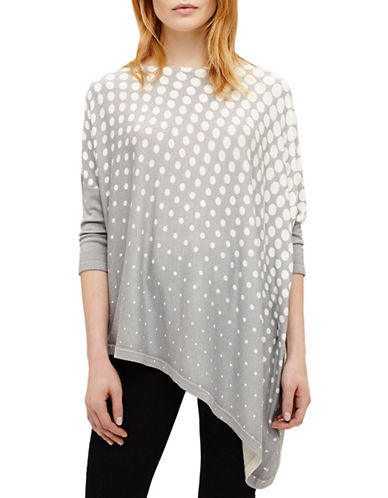 Phase Eight Melinda Printed Knit Top-GREY-2