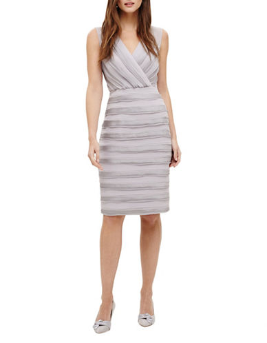 Phase Eight Sadie Layered Dress-GREY-UK 14/US 10