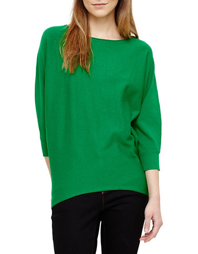 Phase Eight Becca Smart Batwing Knitted Jumper-GREEN-3