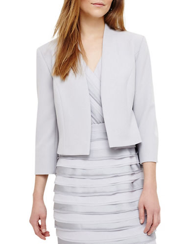 Phase Eight Anna Open-Front Jacket-GREY-UK 14/US 10