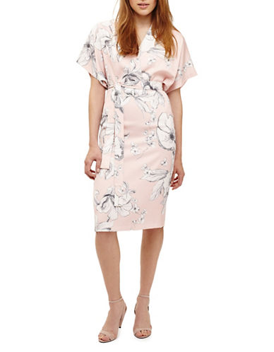 Phase Eight Paige Floral Wrap Dress-APRICOT-UK 14/US 10