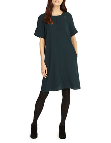Phase Eight Zoe Shift Dress-GREEN-UK 14/US 10