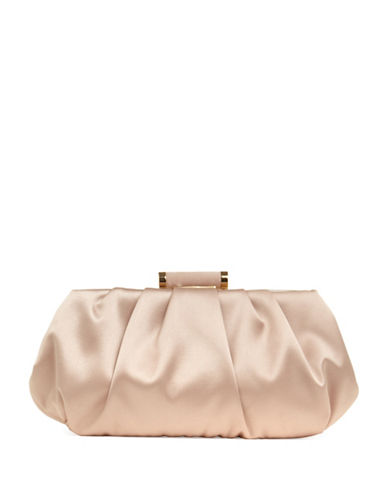 Phase Eight Minnie Satin Convertible Clutch-NATURAL-One Size