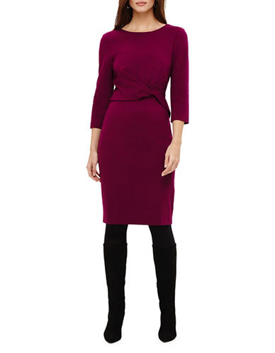 Phase Eight Tayla Twist-Front Dress-MAGENTA-UK 8/US 4