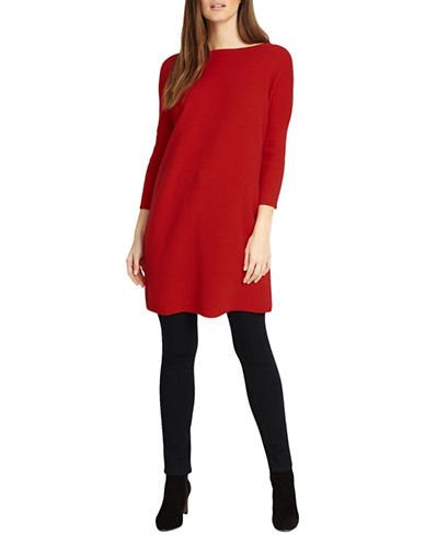 Phase Eight Tiberia Ripple Stitch Cotton Tunic-RED-3