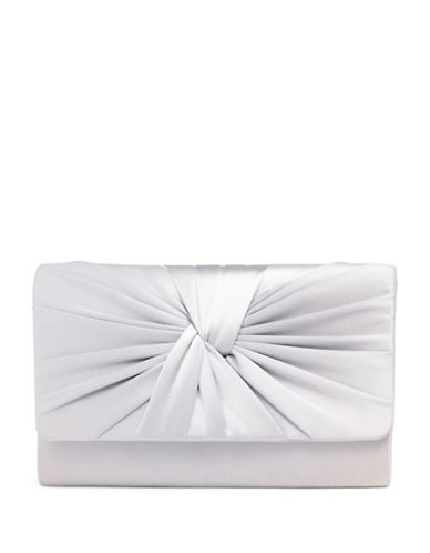 Phase Eight Gemma Twist Front Convertible Clutch-SILVER-One Size