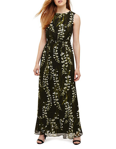 Phase Eight Valencia Floral Maxi Dress-BLACK-UK 16/US 12