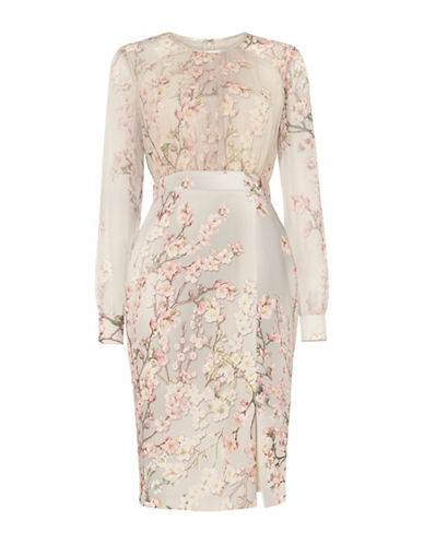 Phase Eight Nissa Floral Dress-BUTTERMILK-UK 10/US 6