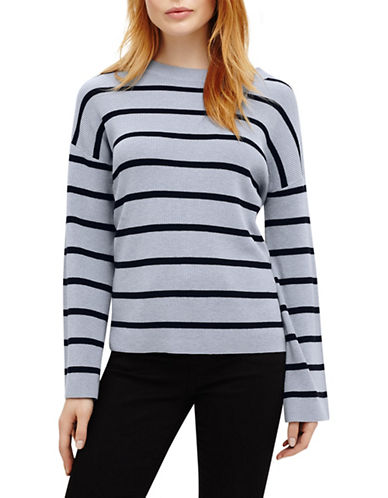Phase Eight Bernelle Stripe Wool-Blend Jumper-BLUE-3