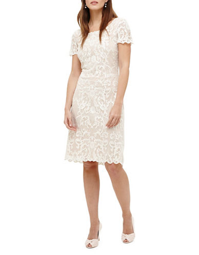 Phase Eight Tatiana Embroidered Dress-NATURAL-UK 8/US 4