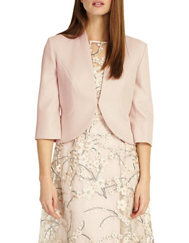 Phase Eight Tammy Quarter-Sleeve Jacket-PINK-UK 12/US 8