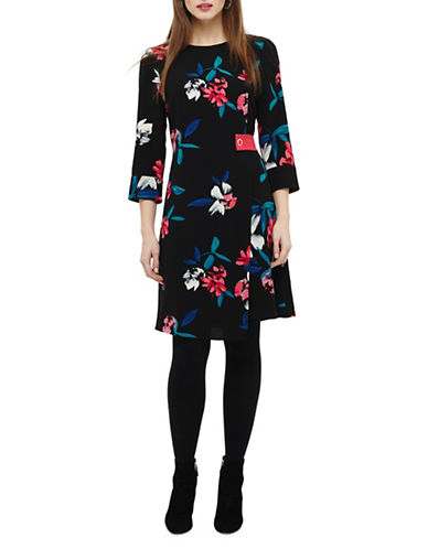 Phase Eight Edie Floral Dress-BLACK-UK 12/US 8
