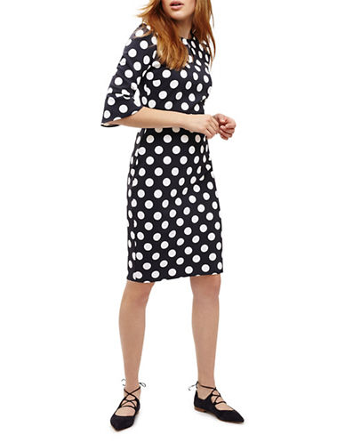 Phase Eight Katlyn Quarter-Sleeve Dress-NAVY-UK 8/US 4