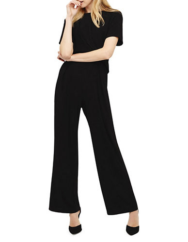 Phase Eight Lou Lou Short-Sleeve Jumpsuit-BLACK-UK 8/US 4