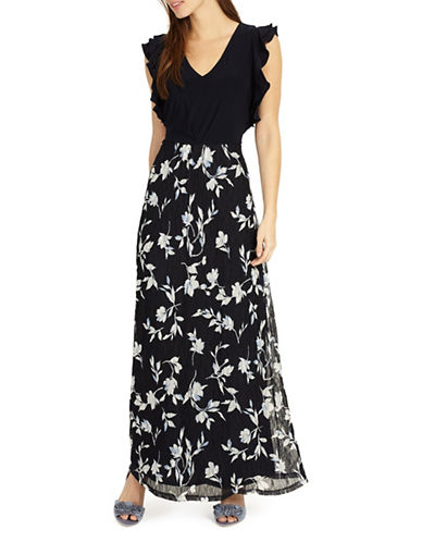 Phase Eight Loretta Floral Lace Maxi Dress-NAVY-UK 12/US 8