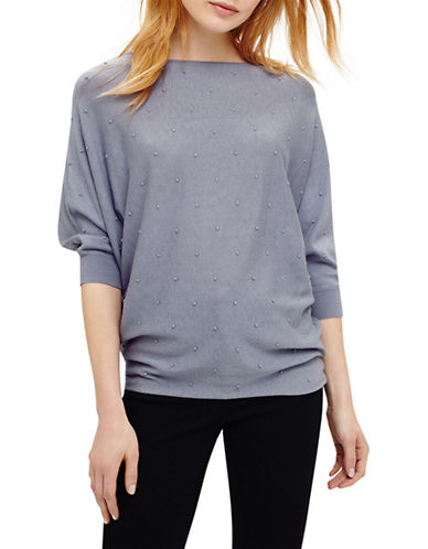 Phase Eight Becca Spot Stitch Wool-Blend Jumper-BLUE-0