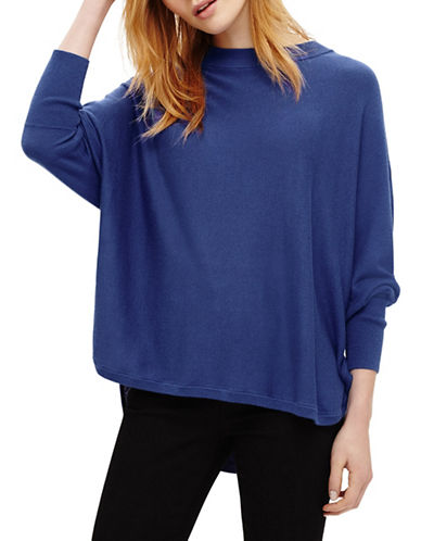 Phase Eight Sydney Step Hem Wool-Blend Batwing Jumper-BLUE-0