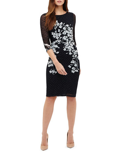 Phase Eight Daisy Floral Lace Dress-NAVY-UK 14/US 10
