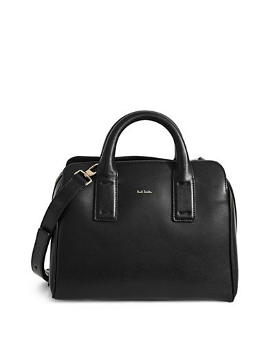 Paul Smith Mini Leather Bowling Bag-BLACK-One Size
