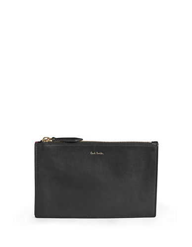 Paul Smith Concertina Zipper Pouch-BLACK-One Size