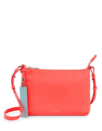 Paul Smith Embossed Stripe Leather Crossbody Bag-FLAMINGO-One Size