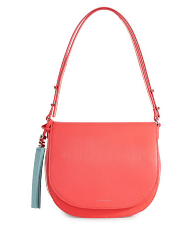 Paul Smith Colour Tip Saddle Bag-CORAL-One Size