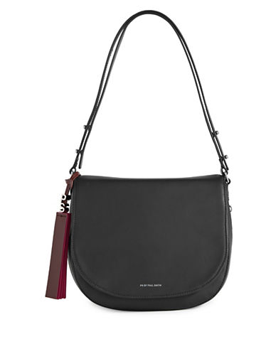 Paul Smith Colour Tip Saddle Bag-BLACK-One Size