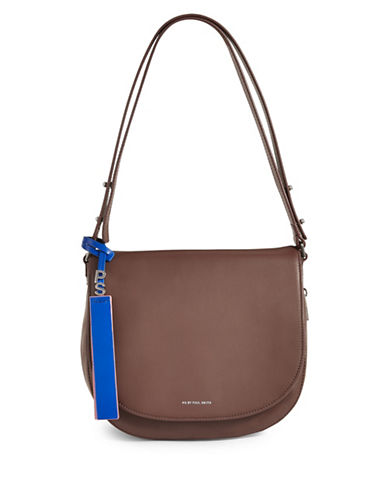 Paul Smith Colour Tip Saddle Bag-CHESNUT-One Size