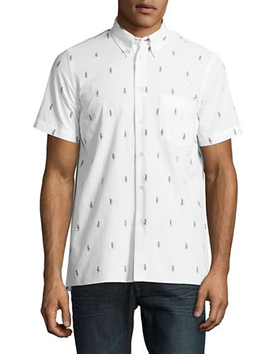 Ps By Paul Smith Parrots Casual-Fit Short Sleeve Shirt-WHITE-Small