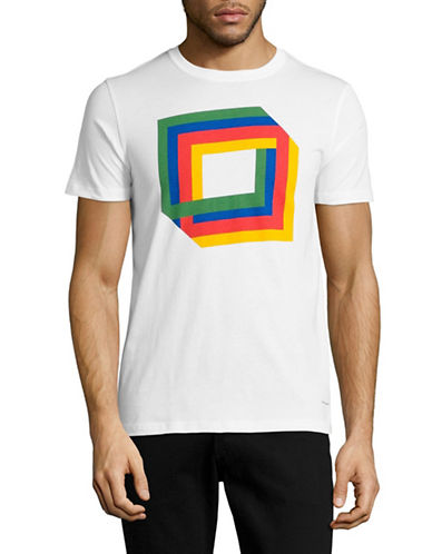 Ps By Paul Smith Cube Graphic T-Shirt-WHITE-Large
