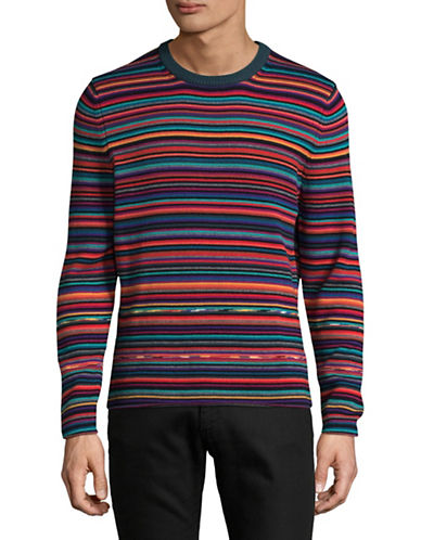 Ps By Paul Smith Multi-Stripe Wool-Blend Sweater-RED-Small